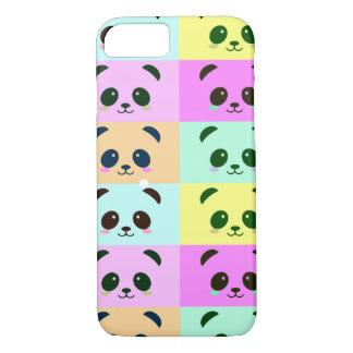 Panda Bear Pop Art Yellow Pink Blue iPhone 8/7 Case