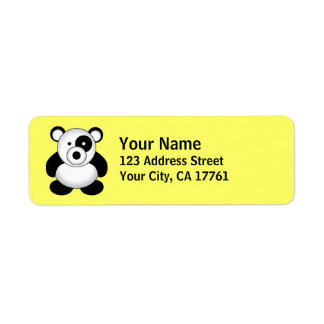 Panda Bear Return Address Labels