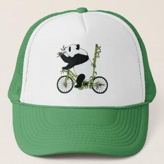 Panda Bear Riding Bamboo Bike Trucker Hat