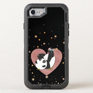 Panda Bear Rose Gold Heart Gold Stars OtterBox Defender iPhone 8/7 Case
