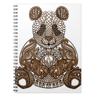 Panda Bear Spiral Note Book