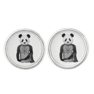 Panda Bear Viking Cufflinks