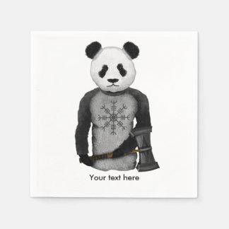 Panda Bear Viking Disposable Serviettes