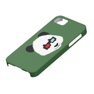 Panda Bear with 3D Glasses iPhone 5 Cases