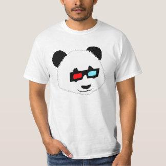 Panda Bear with 3D Glasses Tee Shirts