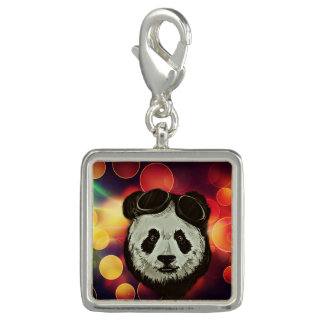 Panda Bear with Bokeh Art
