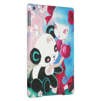 Panda Bear with Kawaii Girl iPad Air Cover