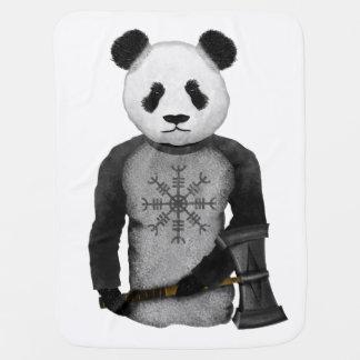 Panda Bear With Viking Hammer Buggy Blankets
