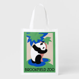 Panda Bear Zoo Poster Tote