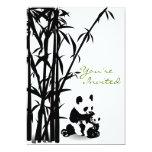 Panda Bears and Bamboo Baby Shower 13 Cm X 18 Cm Invitation Card