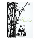 Panda Bears and Bamboo Baby Shower Invitation