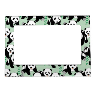Panda Bears Graphic Magnetic Frame