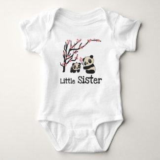 Panda Bears Little Sister Baby Bodysuit
