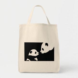 panda bears stamp bags