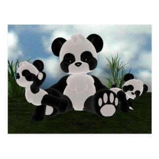 Panda Bearz Sunny Day Postcard