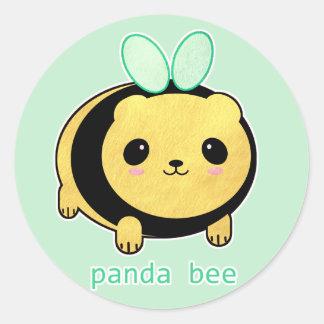 Panda Bee Classic Round Sticker
