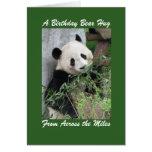 Panda Birthday Bear Hug Across the Miles Card Cards