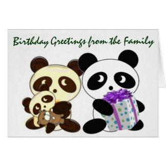 Panda birthday greetings greeting card