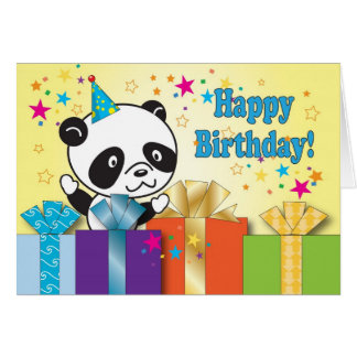 Panda Birthday Greetings Card