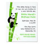 Panda Birthday Invitation 11 Cm X 14 Cm Invitation Card