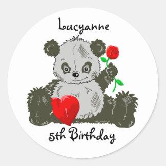 Panda Birthday Stickers