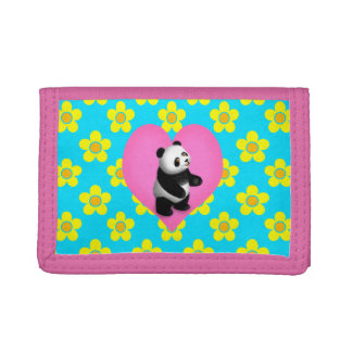 Panda Bon Bon for Girls Trifold Wallet