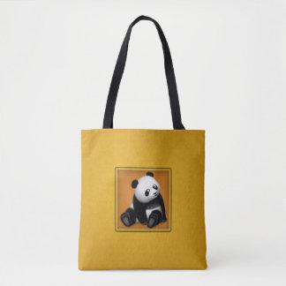 Panda Bonbon All-Over-Print Tote Bag-Sit and Roll