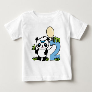 Panda Boy 2nd Birthday Baby T-Shirt
