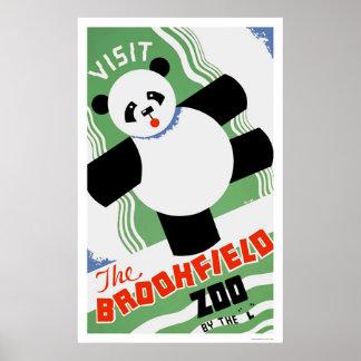 Panda Brookfield Zoo 1938 WPA Poster