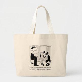 Panda Cartoon 9352 Large Tote Bag