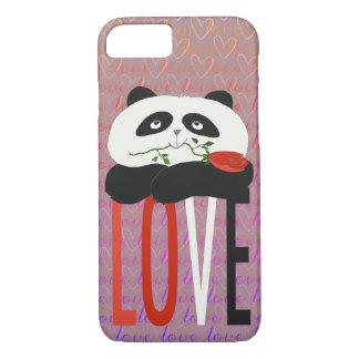 Panda Cartoon Cute Romantic Love Heart Girly Sweet iPhone 8/7 Case