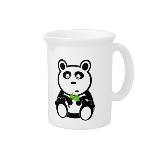 Panda cartoon drink pitchers