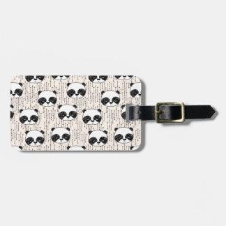 Panda - Champagne Black White / Andrea Lauren Bag Tag