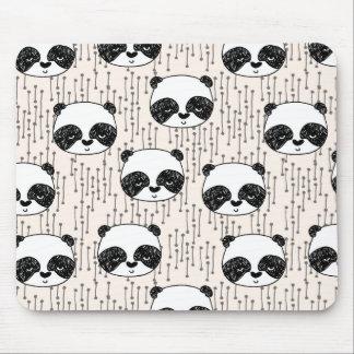 Panda - Champagne Black White / Andrea Lauren Mouse Pad