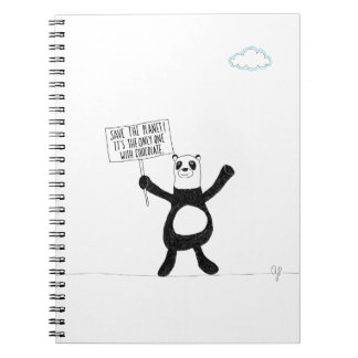 Panda Chocolate Notebooks