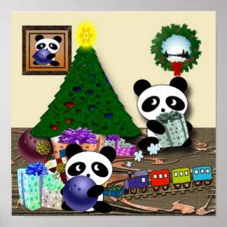 Panda Christmas Poster