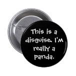 Panda Costume 6 Cm Round Badge