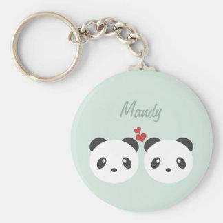 Panda couple key ring