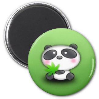 Panda Cub 6 Cm Round Magnet