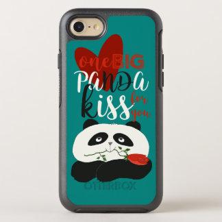 Panda Cute Romantic Love Flower Cartoon Girly Blue OtterBox Symmetry iPhone 8/7 Case