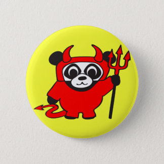 Panda - Devil - Button