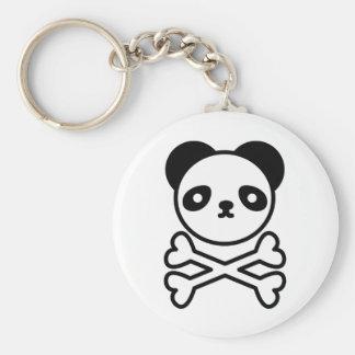 Panda do ku ro basic round button key ring