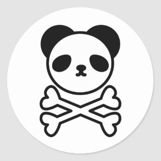 Panda do ku ro round sticker