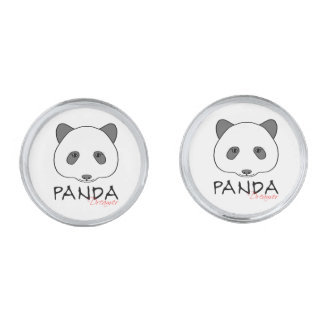 Panda Dreamer Silver Finish Cufflinks