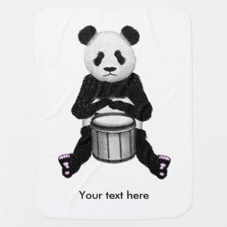 Panda Drumming Buggy Blanket