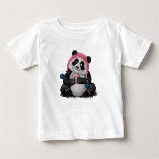 Panda eating a donut baby T-Shirt