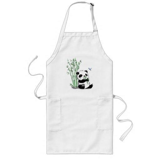 Panda Eating Bamboo Apron