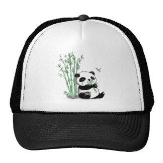 Panda Eating Bamboo Cap