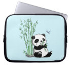 Panda Eating Bamboo Laptop Sleeve