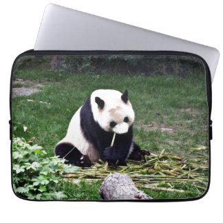 Panda eating Bamboo Laptop Sleeve